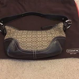 Small coach hobo hand bag